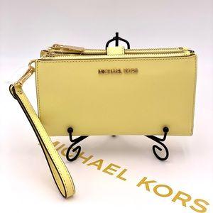 Michael Kors Wallet Wristlet Phone Case Buttercup